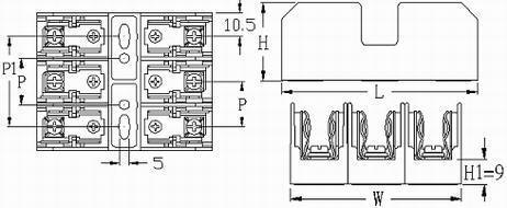 FB-M033SQ series fuse blocks
