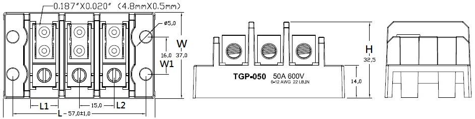SHINING TGP-050-XXA1 power terminal block