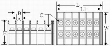 TE series terminal blocks blueprint